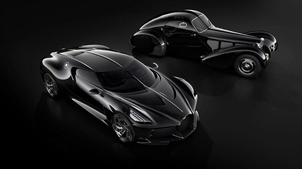 To pay homage to the legendary Type 57 SC Atlantic, Bugatti created the extraordinary La Voiture Noire.